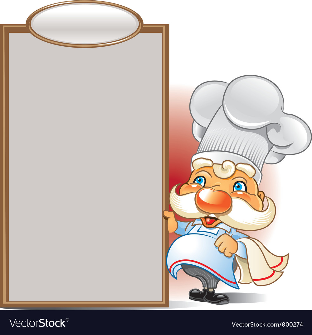 Chef menu vector | Price: 3 Credit (USD $3)