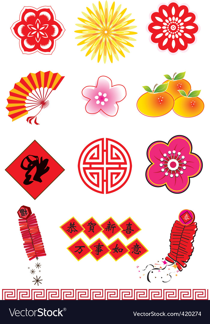 Chinese new year element vector | Price: 1 Credit (USD $1)