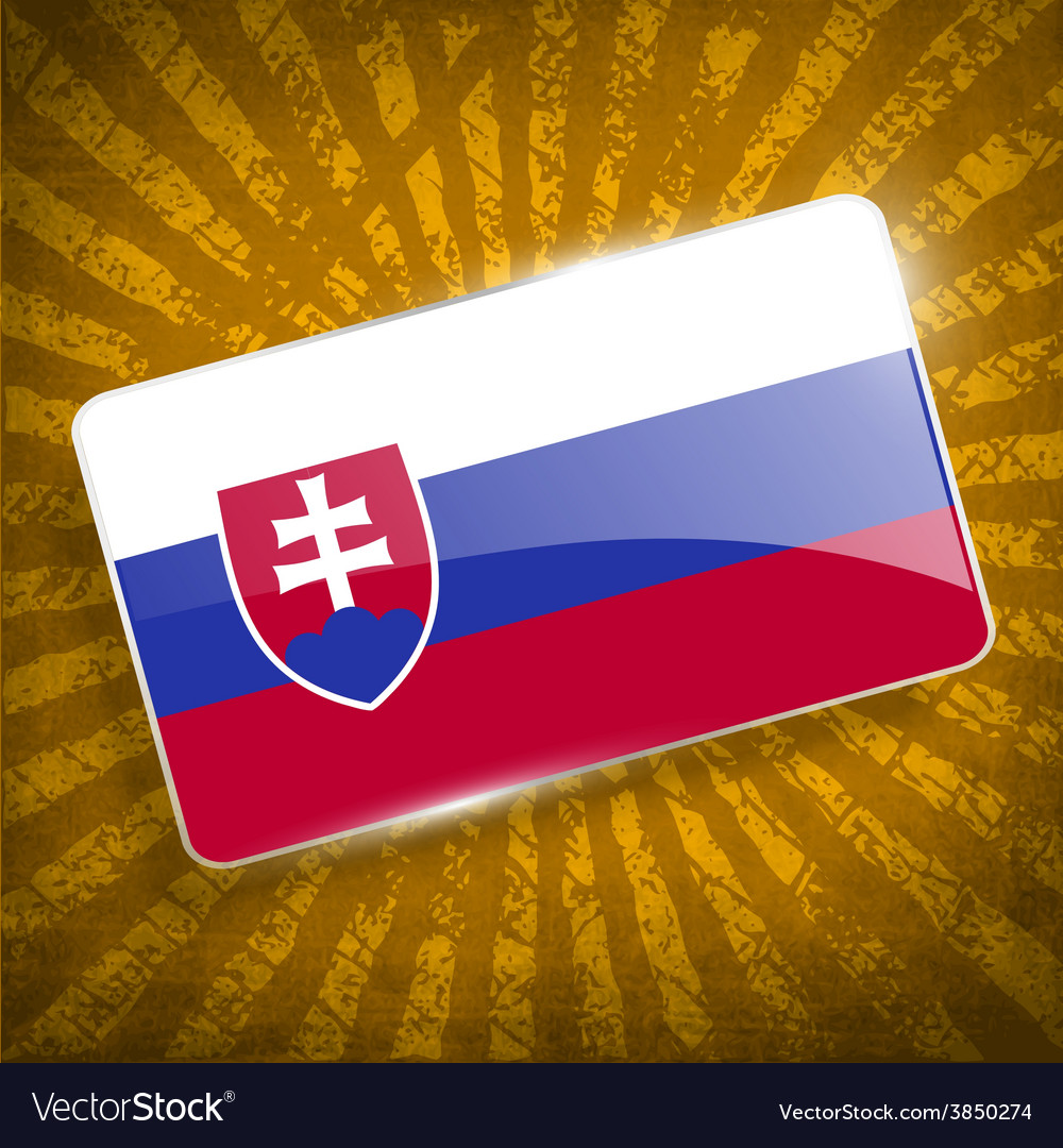 Flag of slovakia with old texture vector | Price: 1 Credit (USD $1)