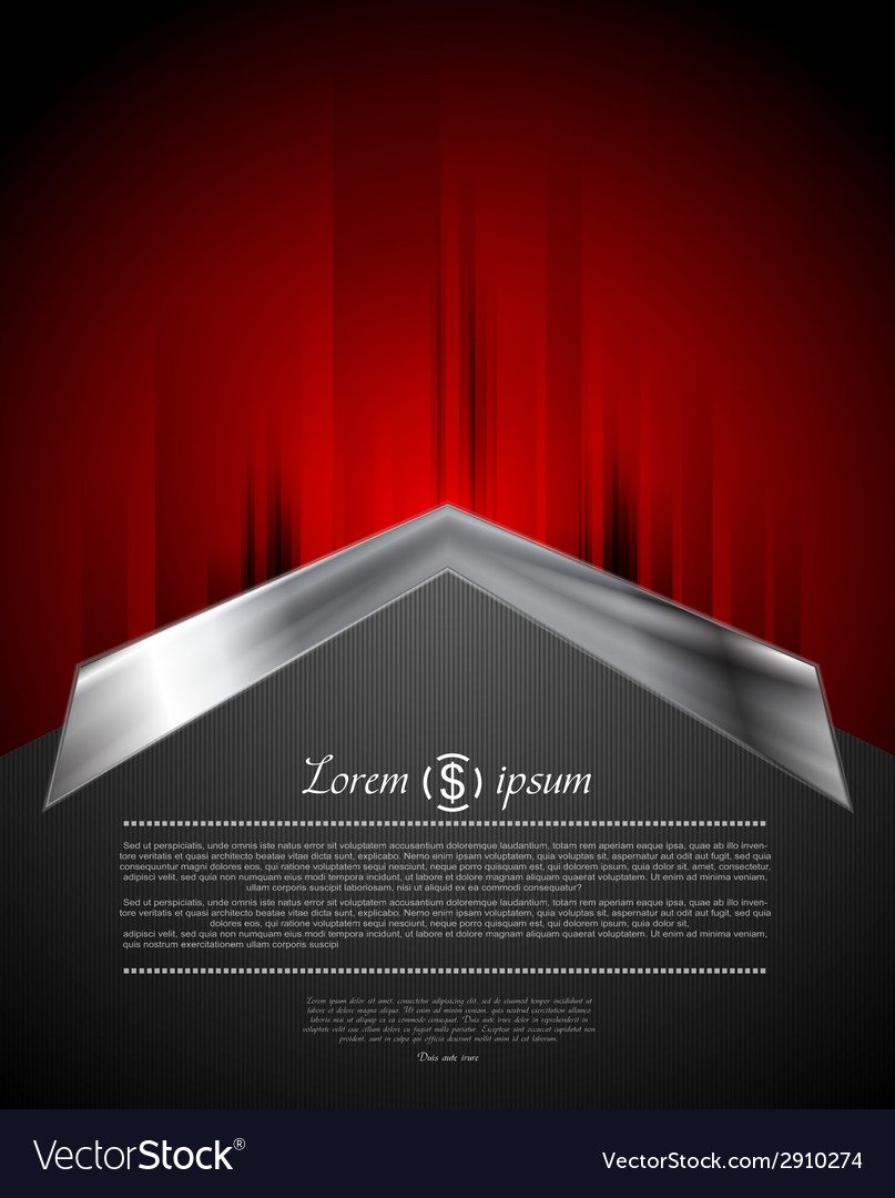Grunge red background with metal arrow vector | Price: 1 Credit (USD $1)