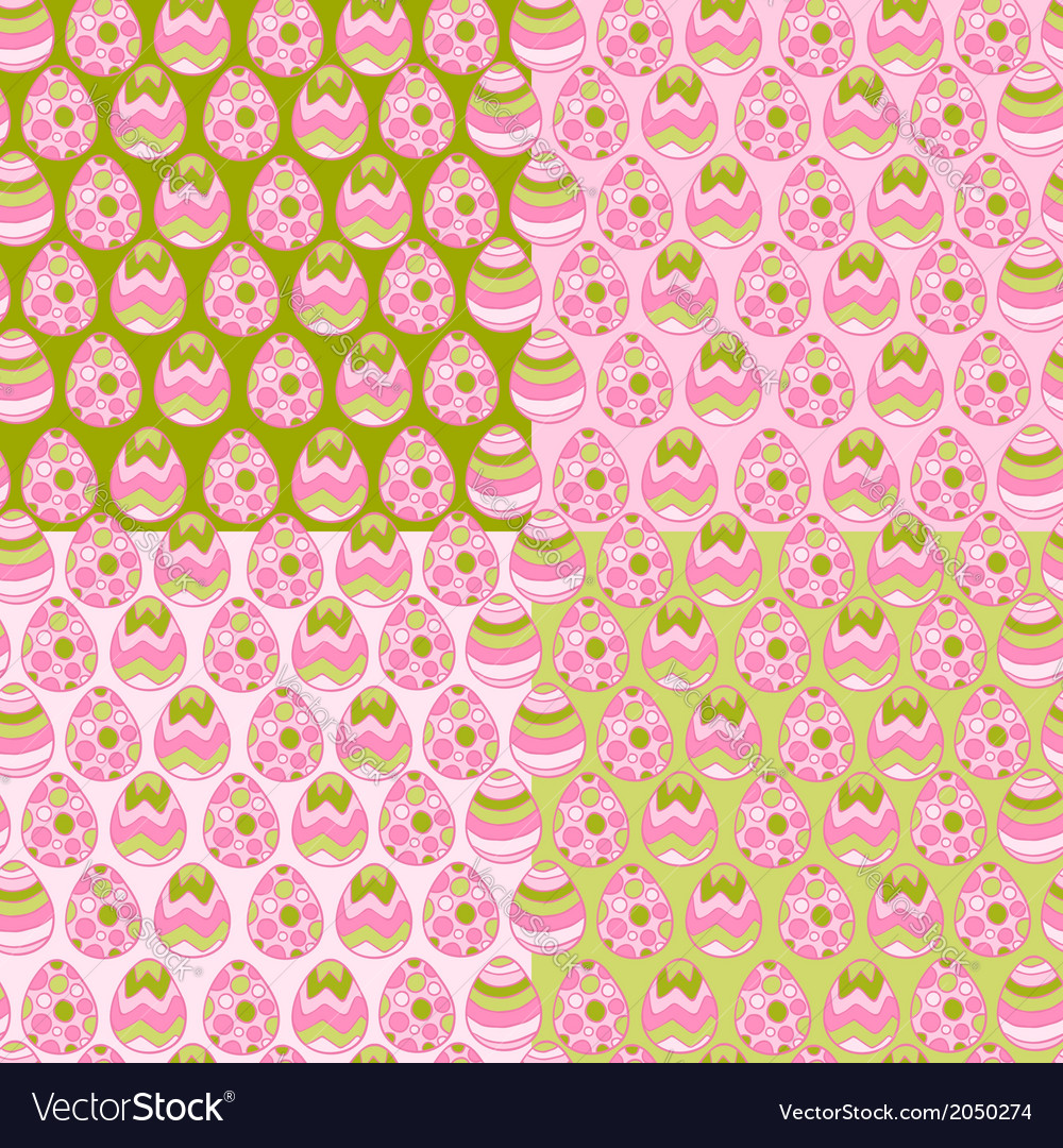 Happy easter eggs pattern background vector | Price: 1 Credit (USD $1)