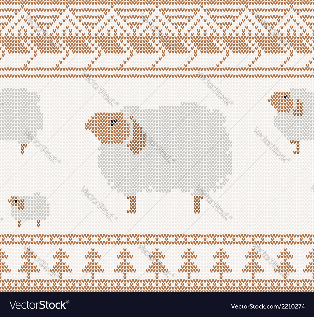 Knitted sheep vector | Price: 1 Credit (USD $1)