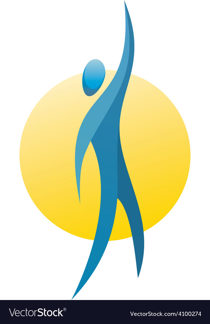 Man figure reach up for a top logo concept vector | Price: 1 Credit (USD $1)