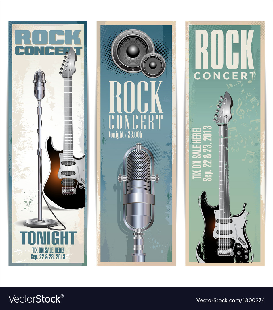 Rock concert poster vector | Price: 1 Credit (USD $1)