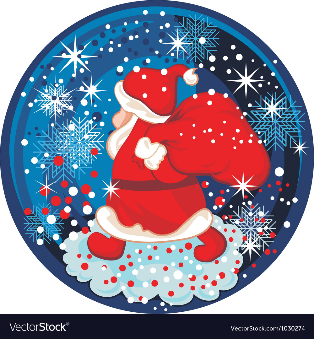 Santa snow globe vector | Price: 1 Credit (USD $1)