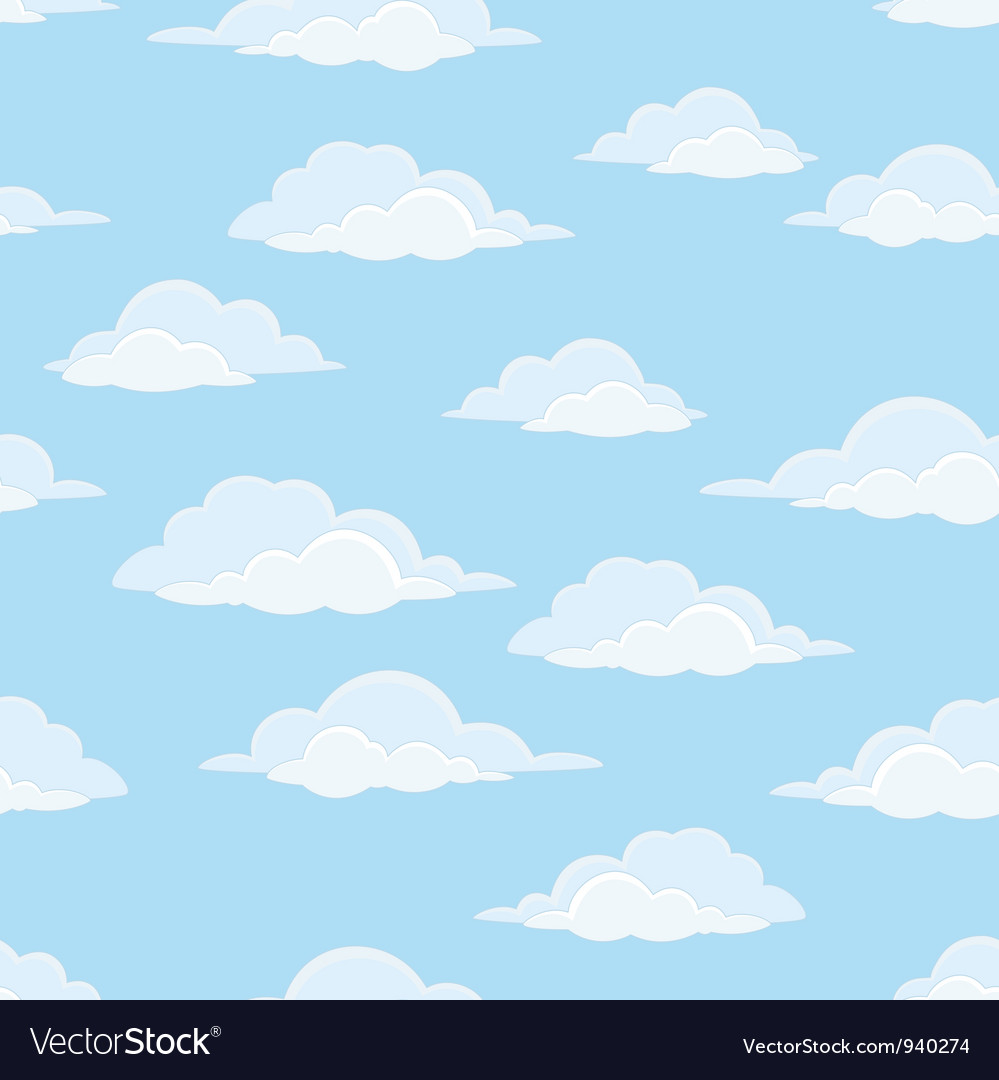 Sky with clouds seamless vector | Price: 1 Credit (USD $1)