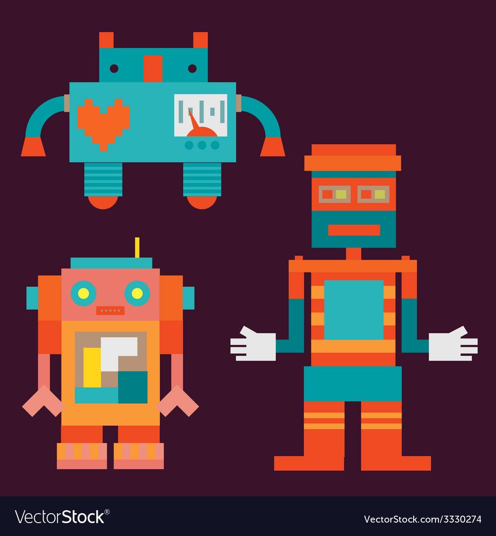 Trio robots vector | Price: 1 Credit (USD $1)