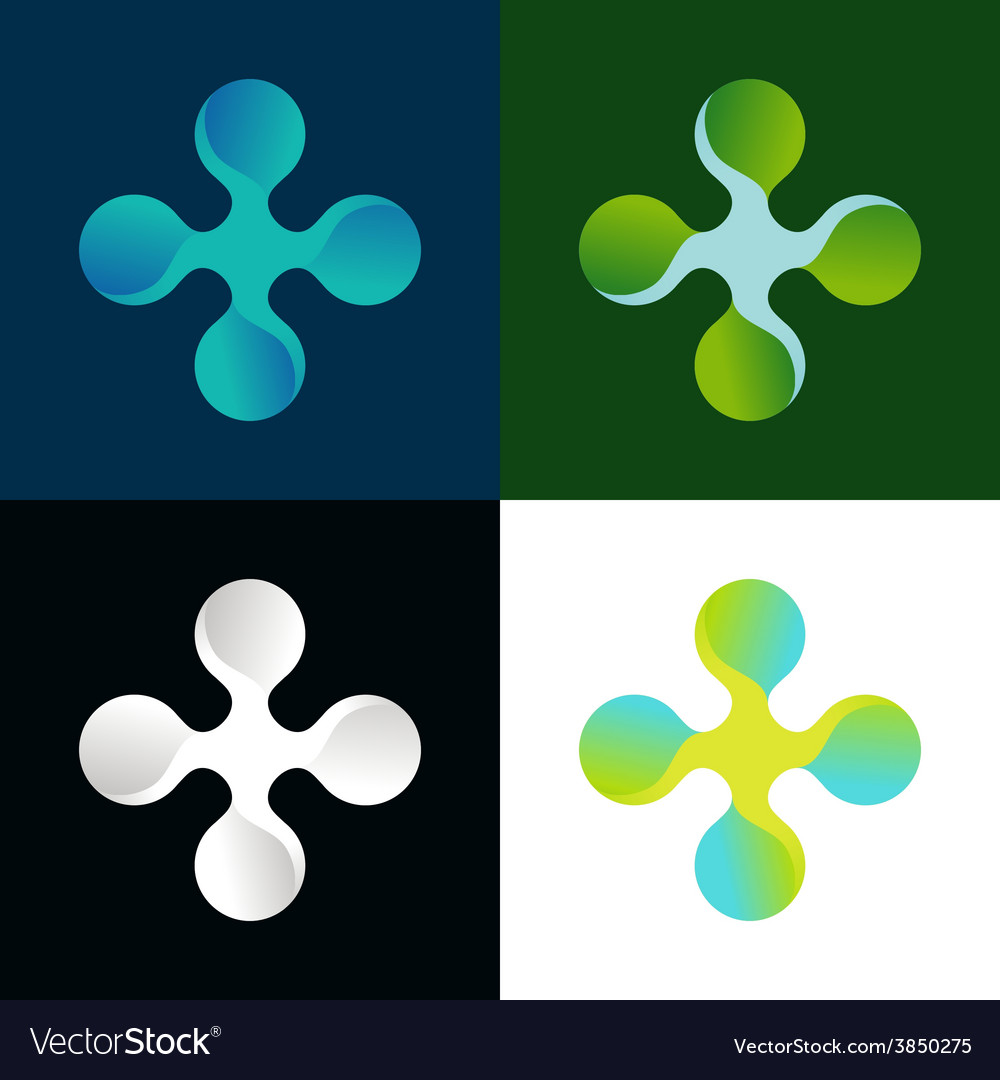 Abstract logo in different colors vector | Price: 1 Credit (USD $1)