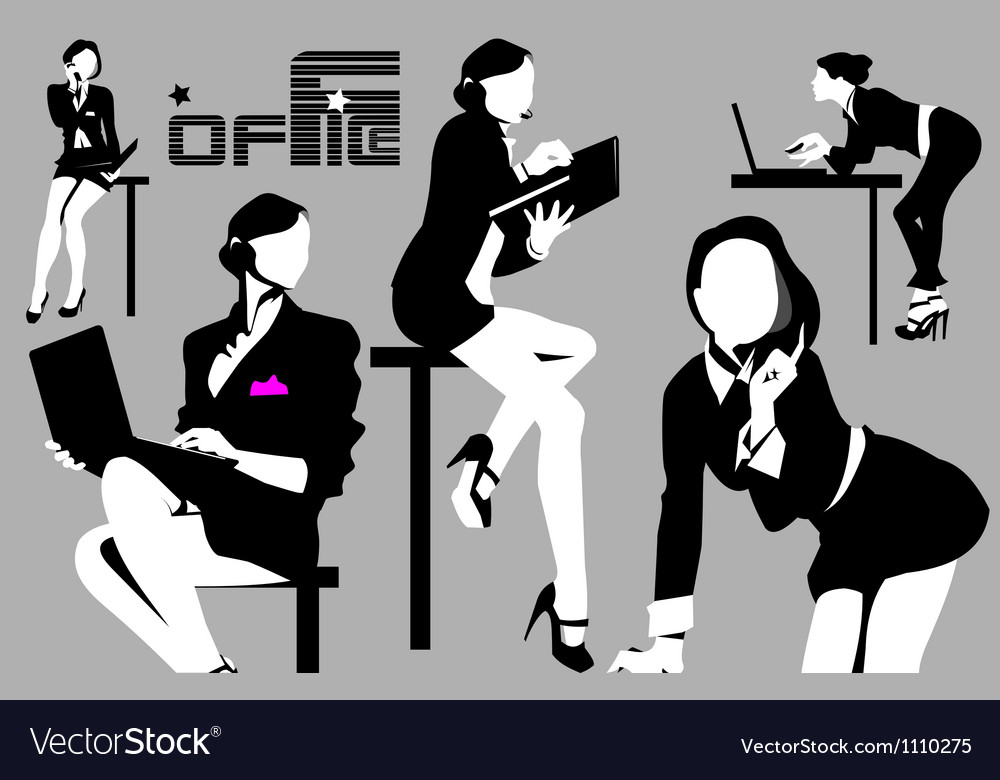 Business woman at work vector