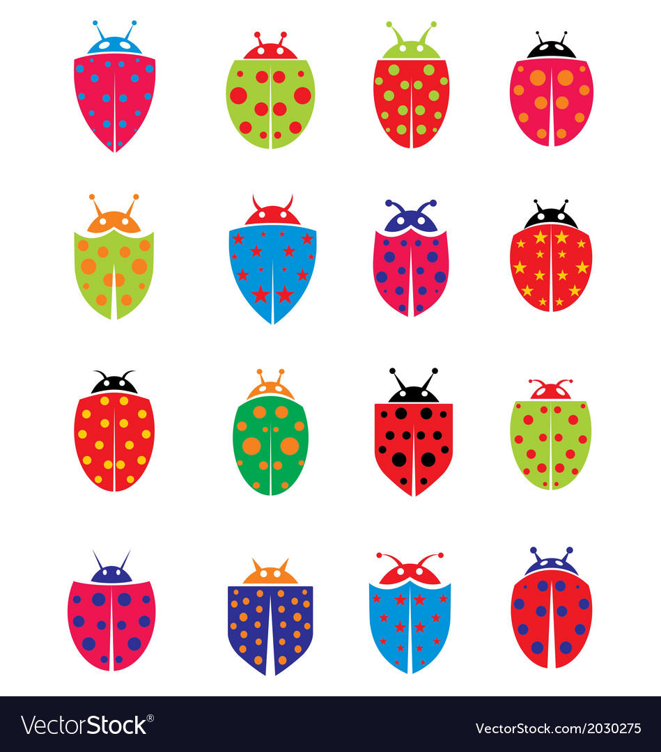 Colorfull ladybug vector | Price: 1 Credit (USD $1)