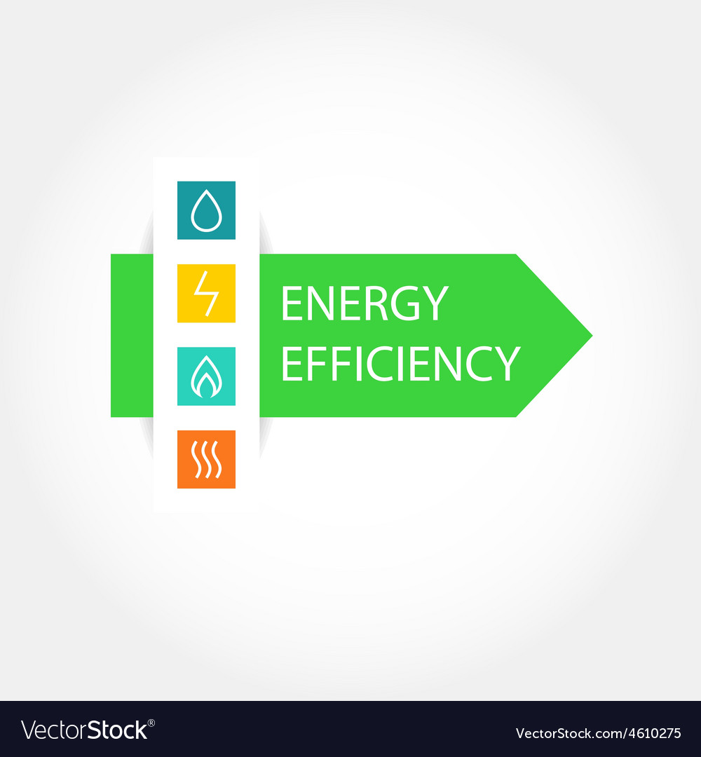 Energy efficiency logo vector | Price: 1 Credit (USD $1)
