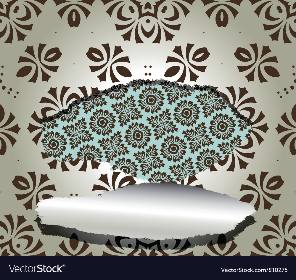 Floral wallpaper with a rip vector | Price: 1 Credit (USD $1)