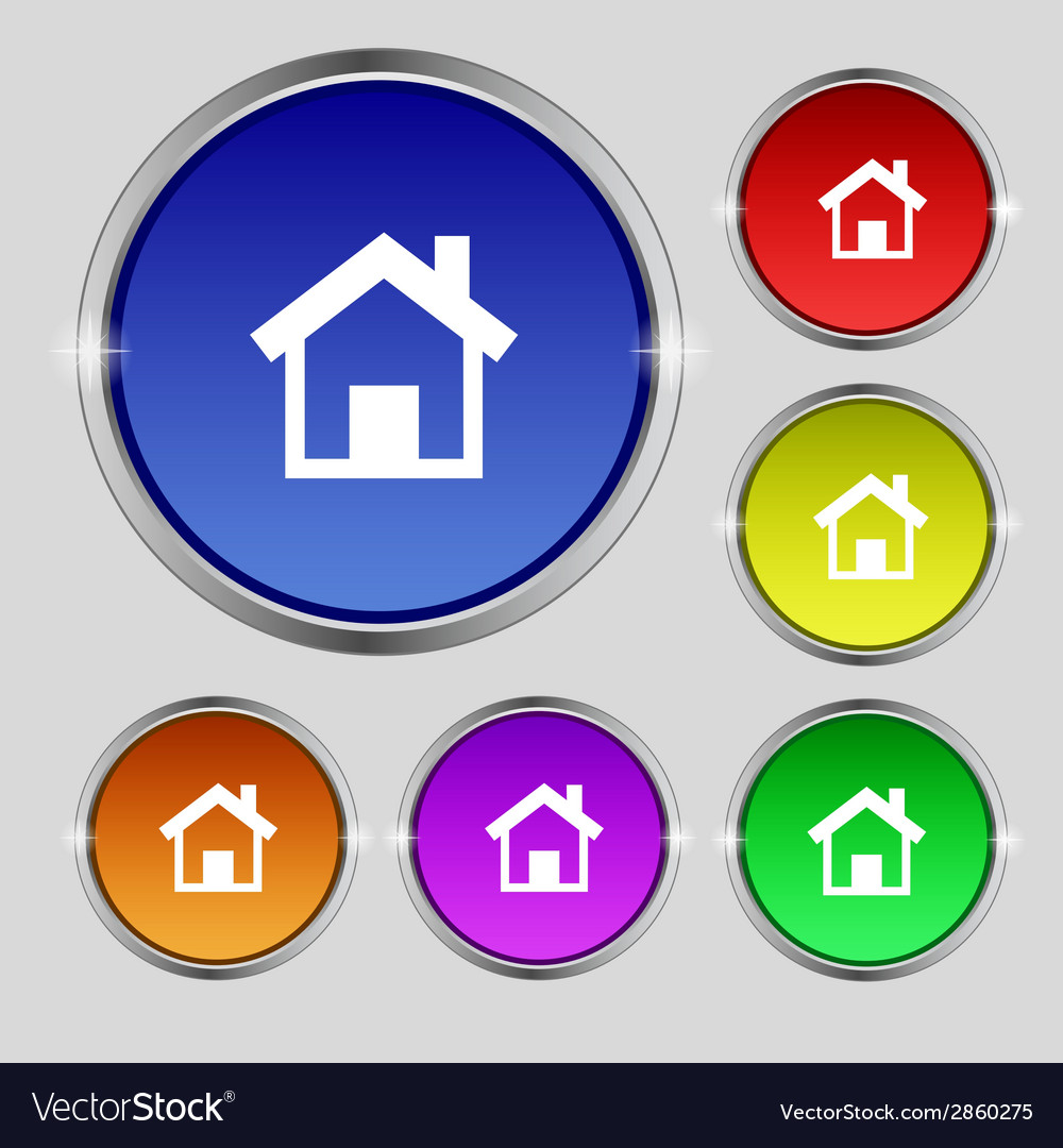 Home sign icon main page button navigation vector | Price: 1 Credit (USD $1)