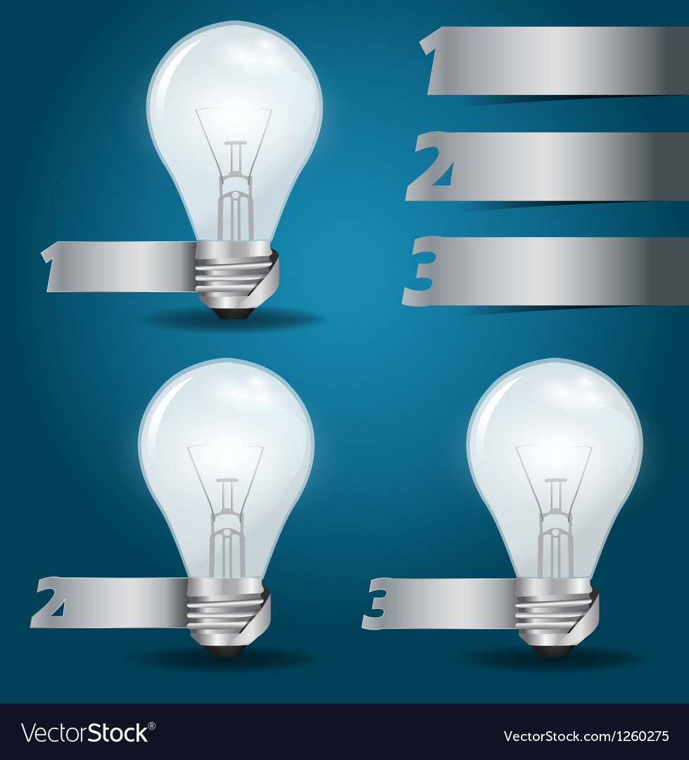 Light bulb idea with modern template vector | Price: 1 Credit (USD $1)