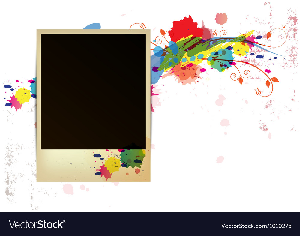 Old frame on watercolor paint background vector | Price: 1 Credit (USD $1)