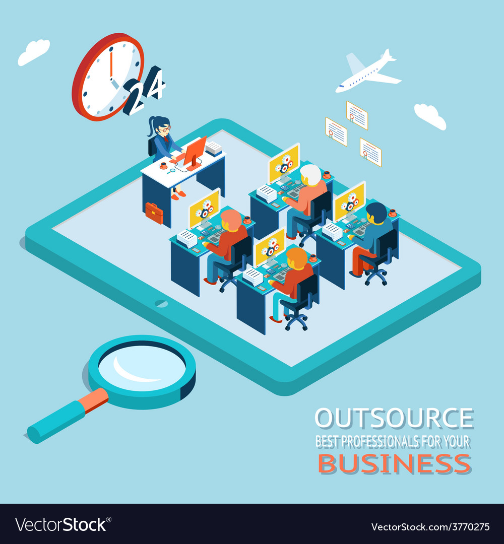 Outsource best professionals for your business vector | Price: 1 Credit (USD $1)
