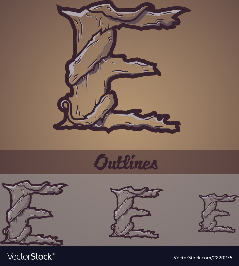Halloween decorative alphabet - e letter vector | Price: 1 Credit (USD $1)