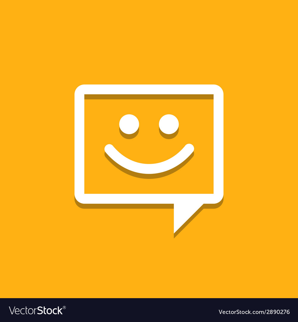 Happy chat icon vector | Price: 1 Credit (USD $1)