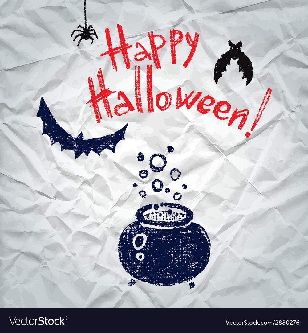 Happy halloween greeting card with a boiling vector | Price: 1 Credit (USD $1)
