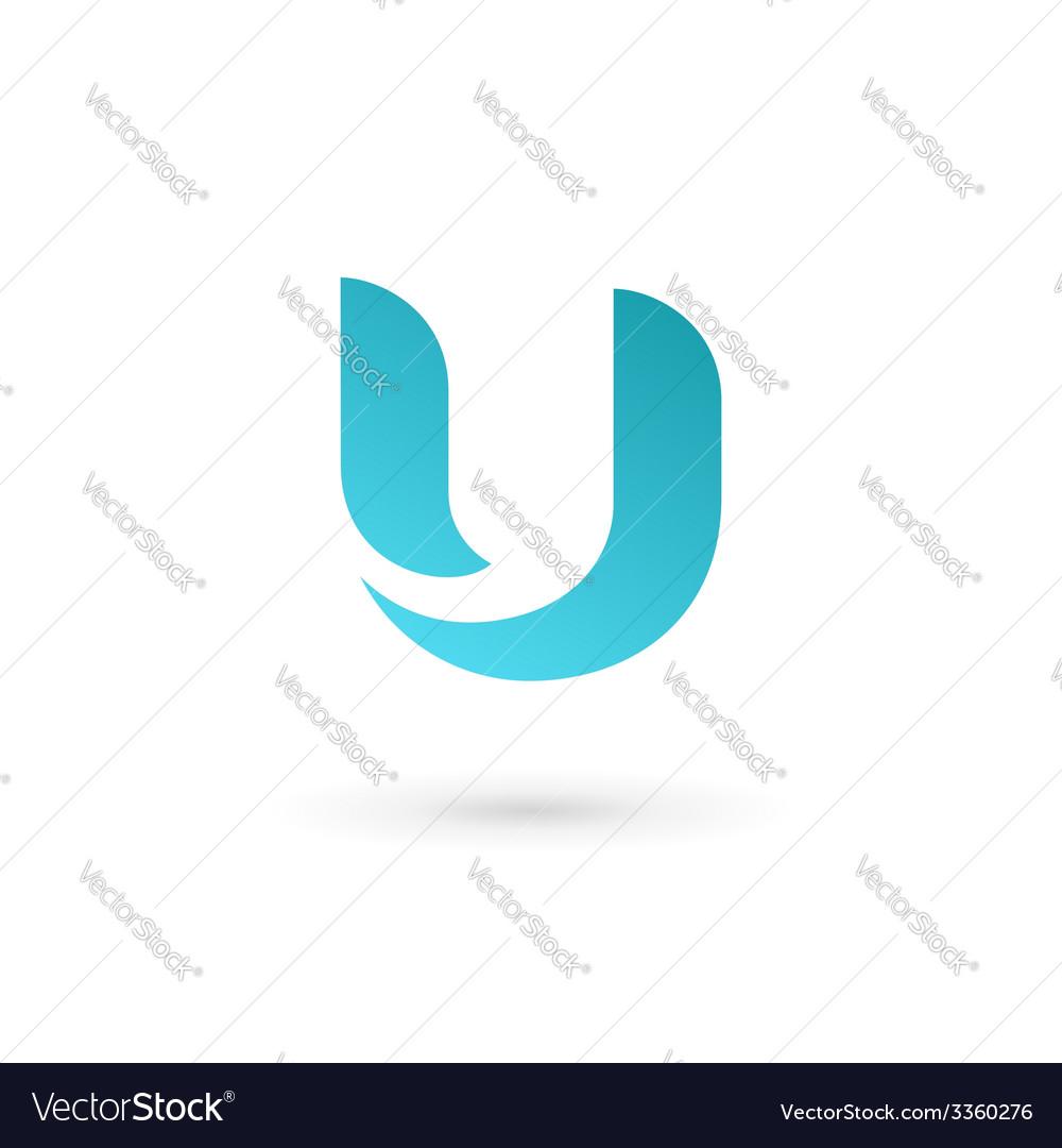 Letter u logo icon design template elements vector | Price: 1 Credit (USD $1)