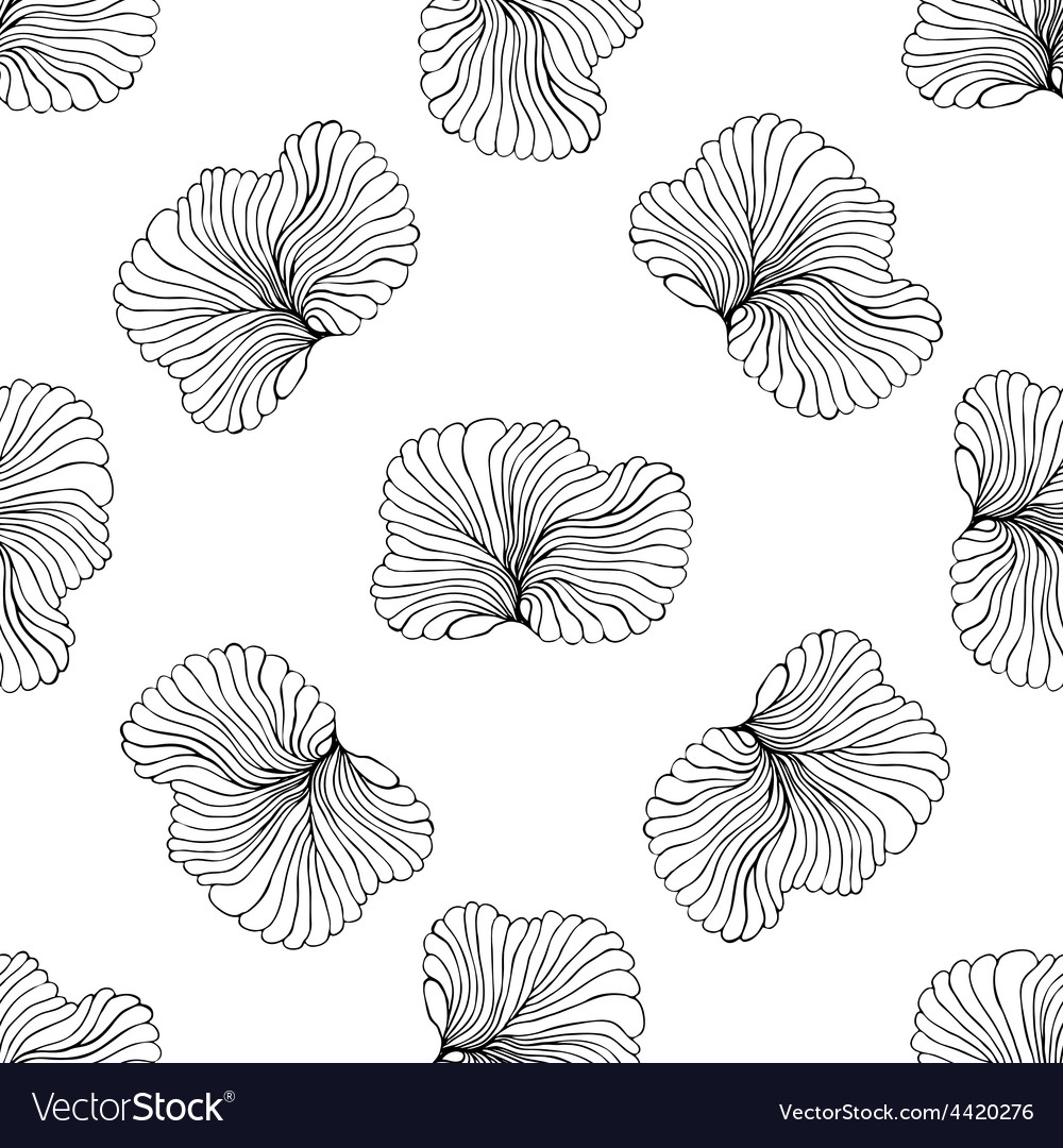 Seamless monochrome pattern vector | Price: 1 Credit (USD $1)