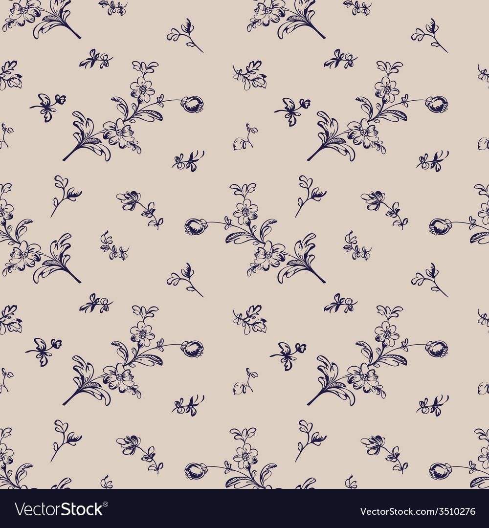 Seamless pattern vintage floral vector | Price: 1 Credit (USD $1)