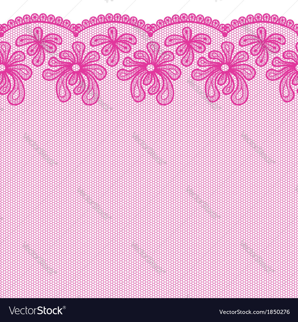 Seamless pink lacy border vector | Price: 1 Credit (USD $1)