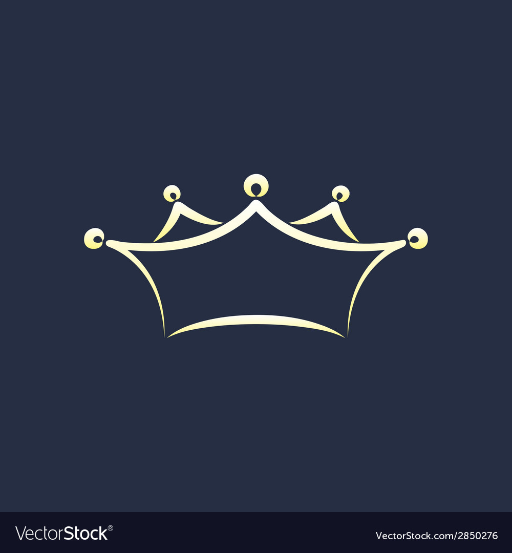 Symbol of crown vector | Price: 1 Credit (USD $1)