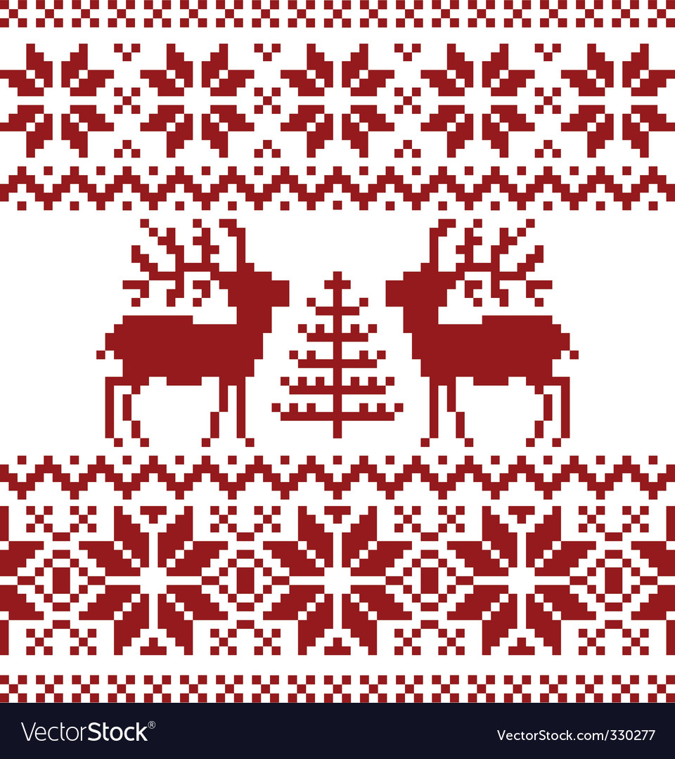 Christmas norwegian pattern vector | Price: 1 Credit (USD $1)