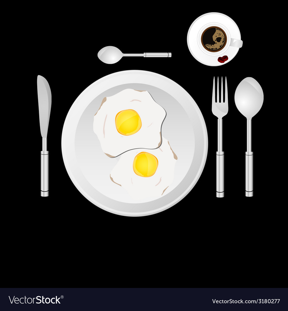 Egg and cup of coffee vector   Price: 1 Credit (USD $1)