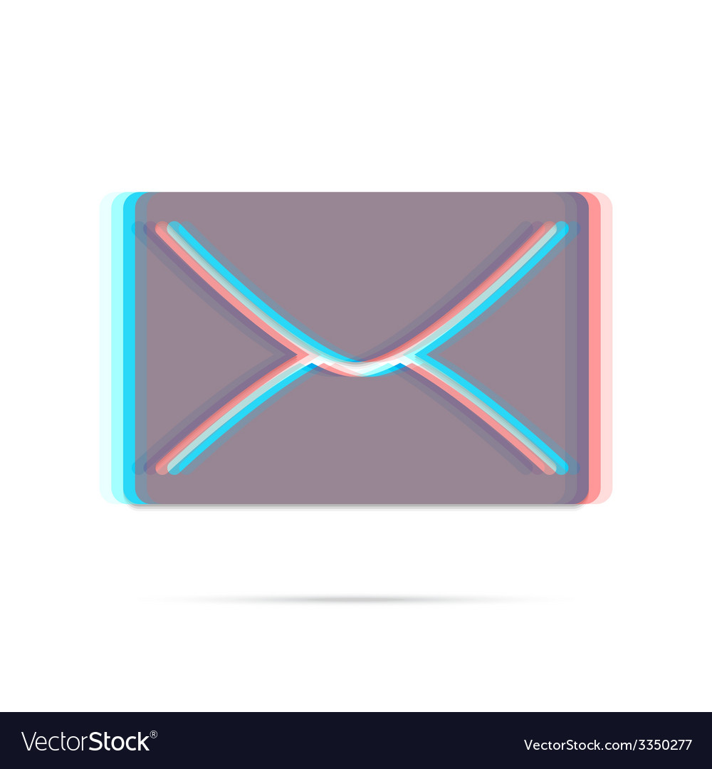 E-mail anagliph icon with shadow vector | Price: 1 Credit (USD $1)