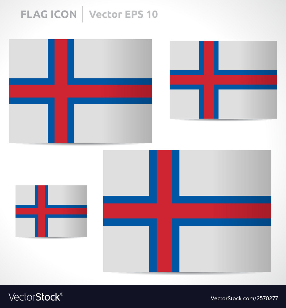 Faroe islands flag template vector | Price: 1 Credit (USD $1)