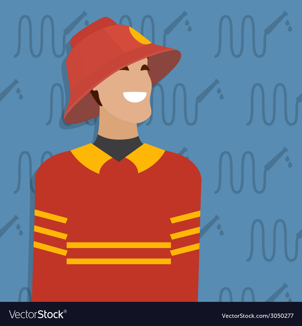 Fireman occupation vector | Price: 1 Credit (USD $1)
