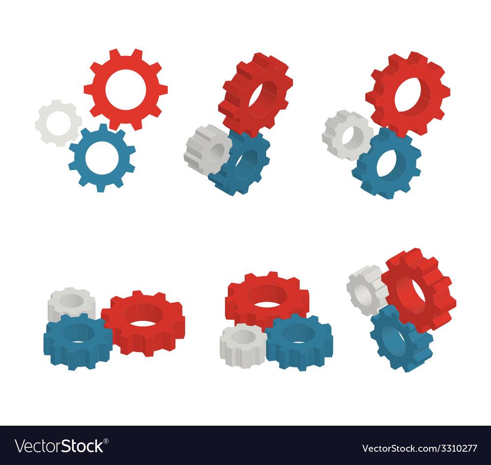 Gears set vector   Price: 1 Credit (USD $1)