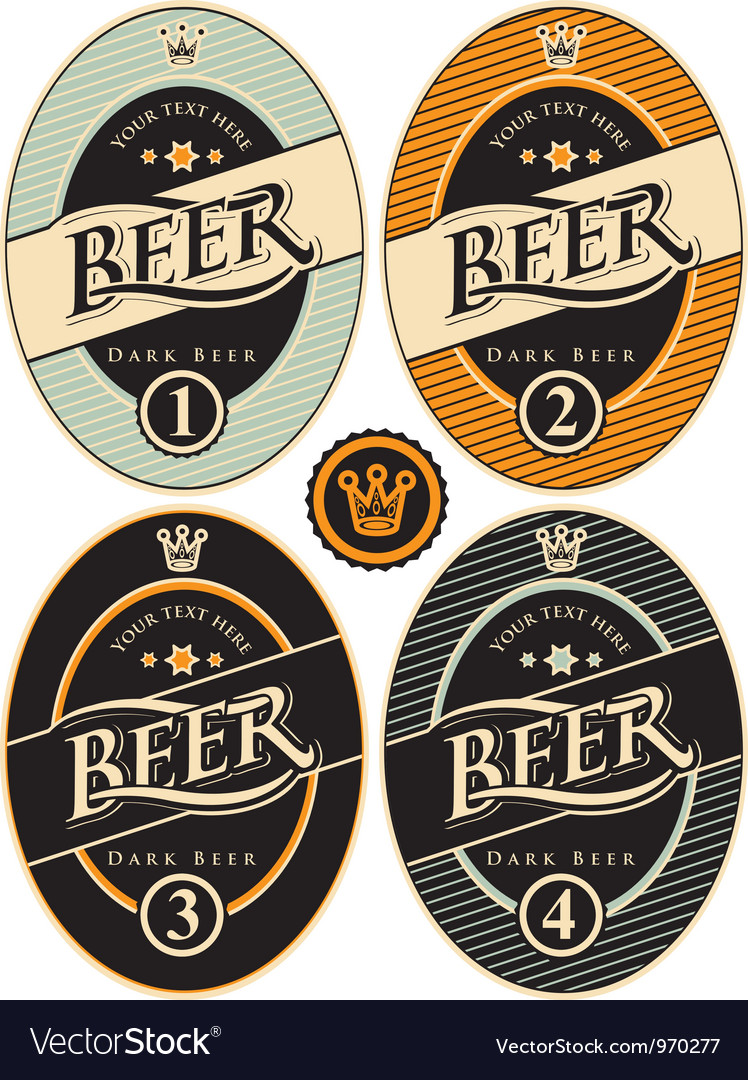 Label of beer vector | Price: 3 Credit (USD $3)