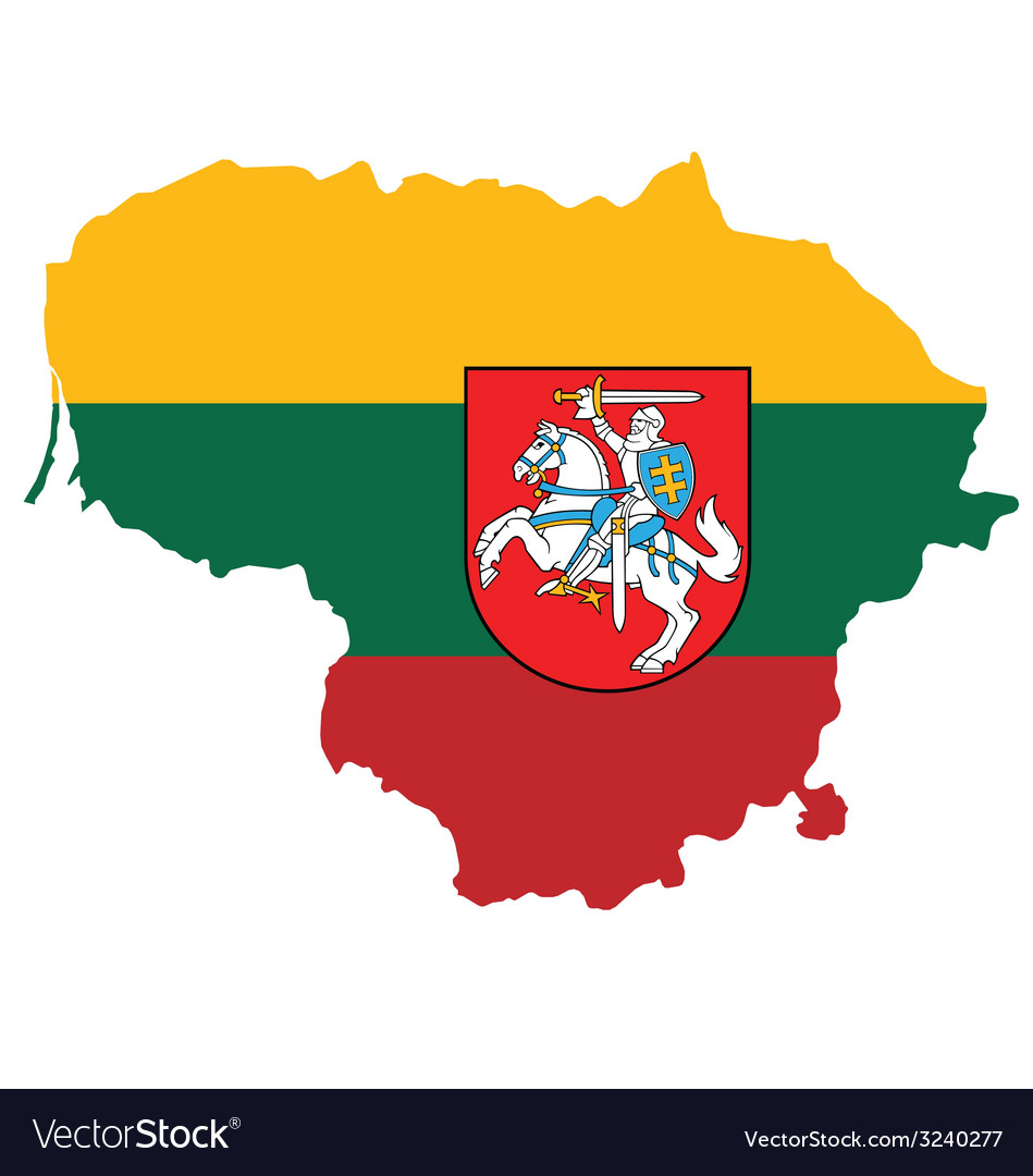 Lithuania flag vector | Price: 1 Credit (USD $1)