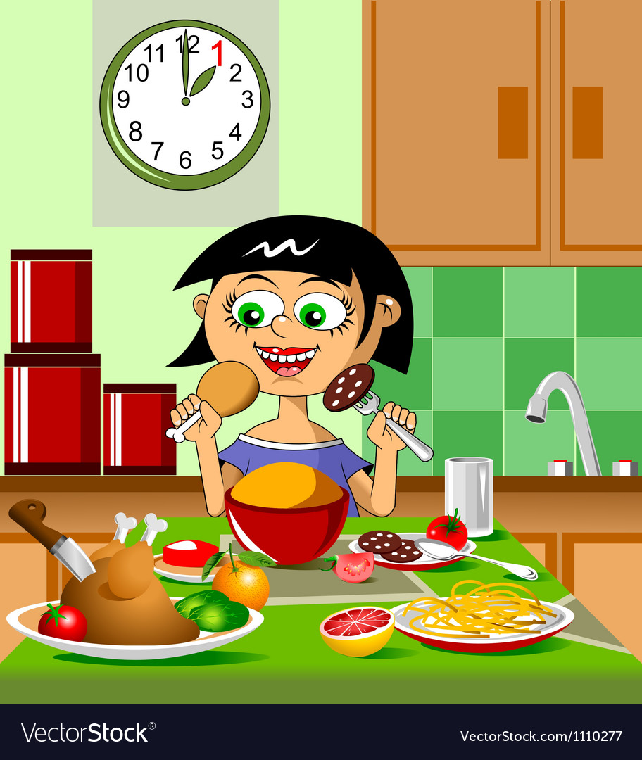 Lovely lunch vector | Price: 1 Credit (USD $1)