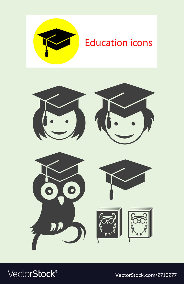 Student icons vector | Price: 1 Credit (USD $1)