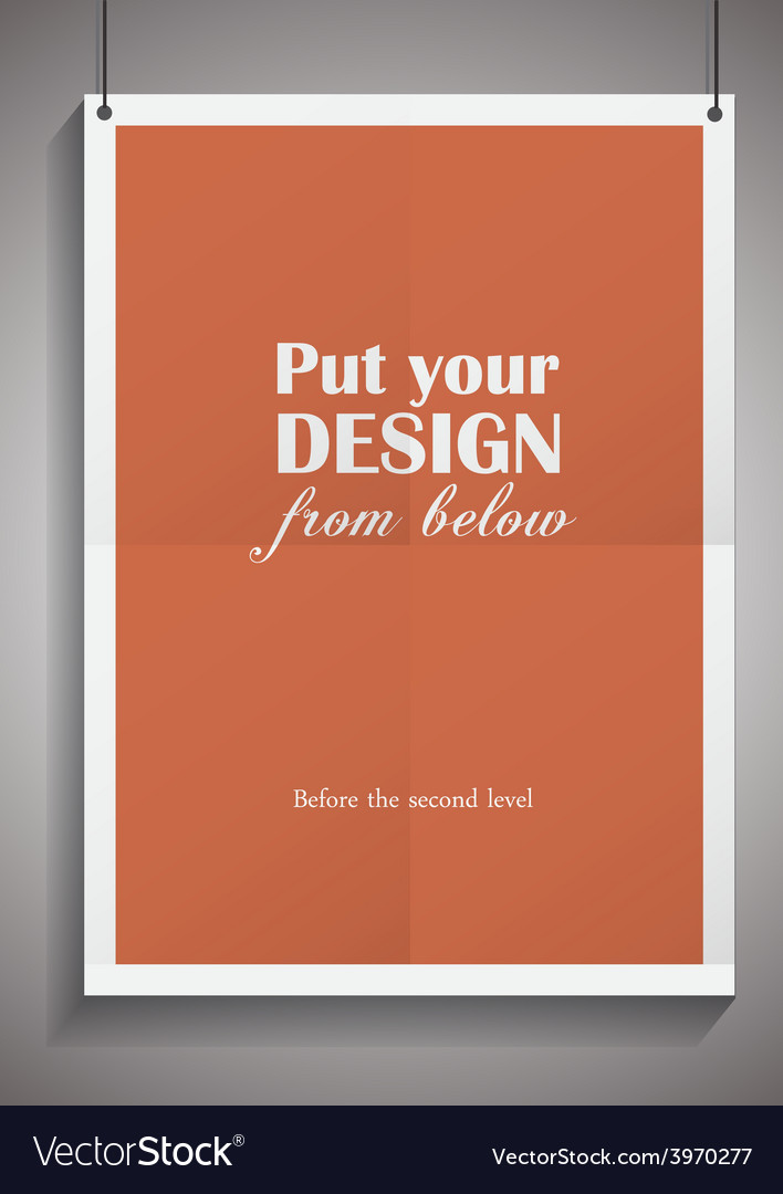 Template of frame with poster placed in vector | Price: 1 Credit (USD $1)