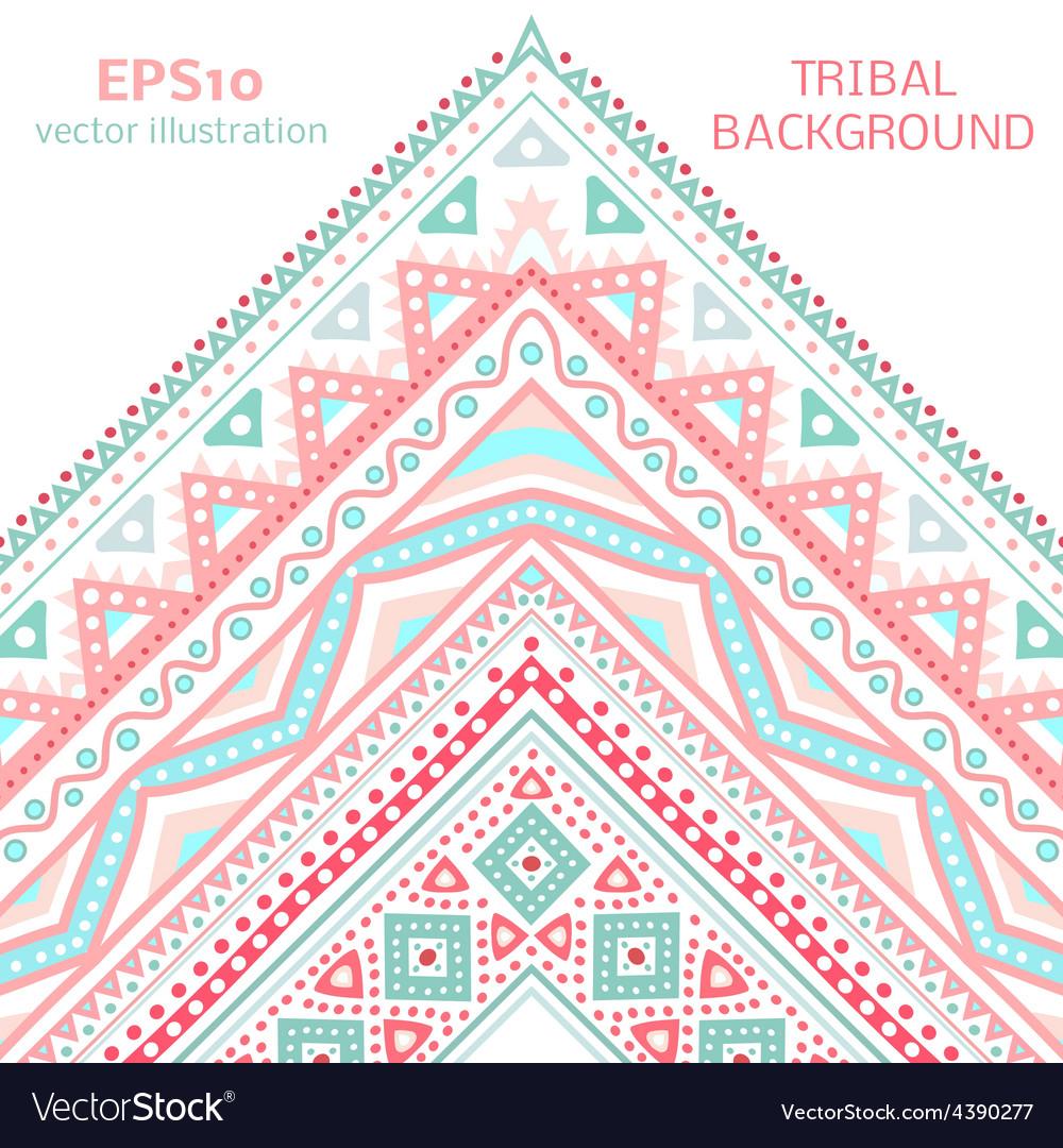 Tribal ethnic corner pattern vector | Price: 1 Credit (USD $1)