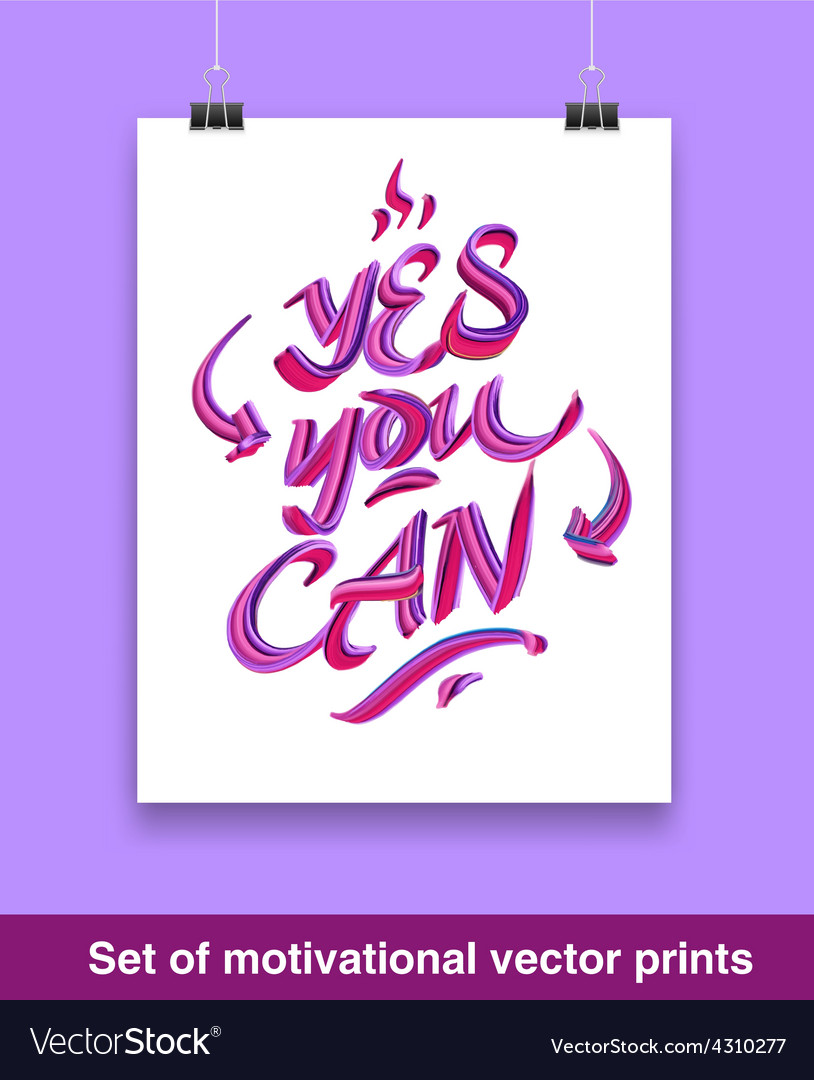 Vecor set of motivation quote mock up vector   Price: 1 Credit (USD $1)