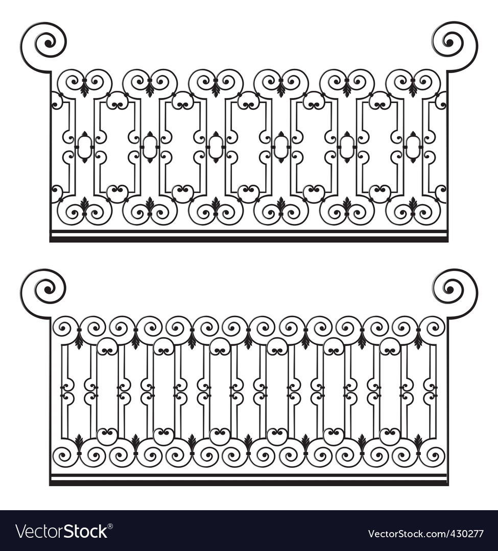 Wrought iron fence vector | Price: 1 Credit (USD $1)