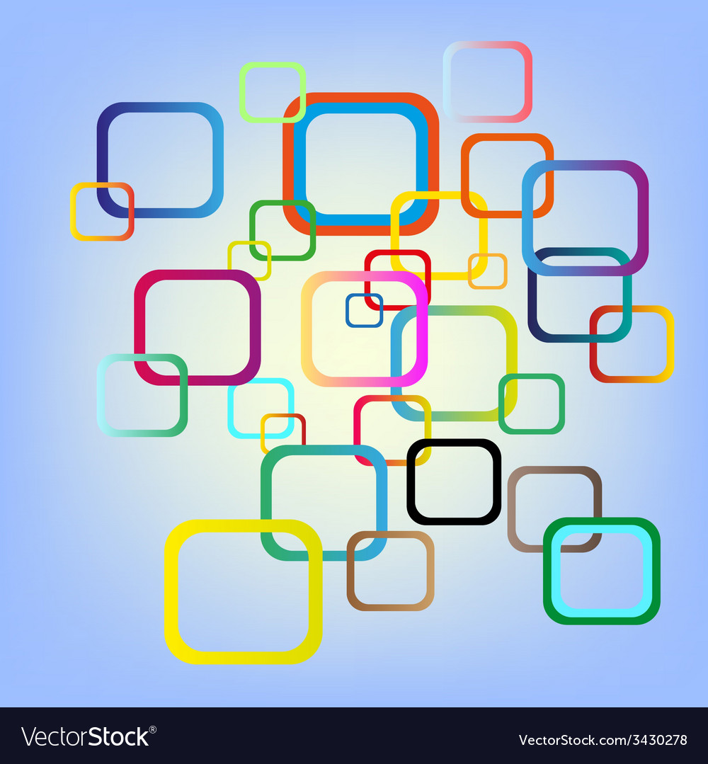 Abstract color squares background vector | Price: 1 Credit (USD $1)