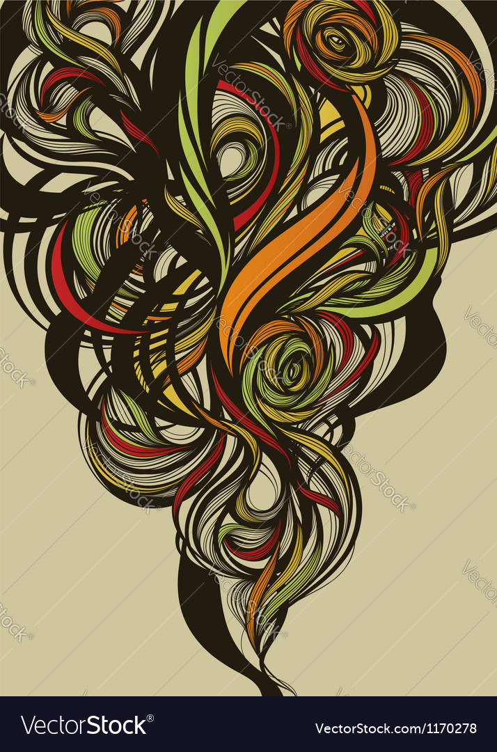 Abstract extraordinary floral design vector | Price: 1 Credit (USD $1)