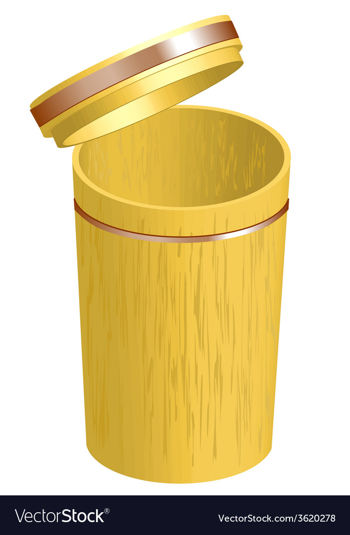 Bamboo container vector | Price: 1 Credit (USD $1)