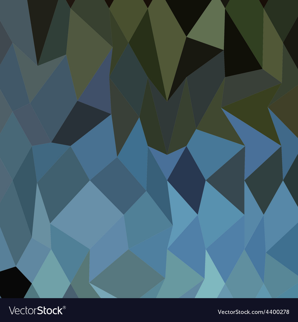 Blue sapphire abstract low polygon background vector | Price: 1 Credit (USD $1)