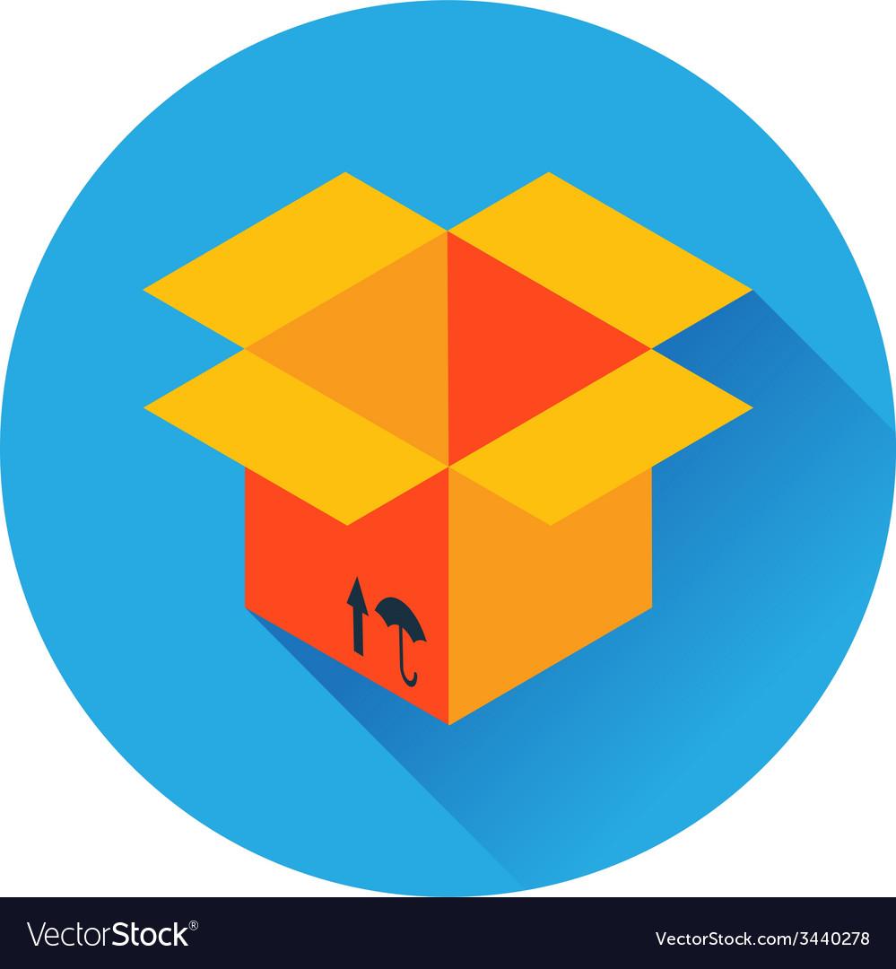 Box delivery icon vector | Price: 1 Credit (USD $1)