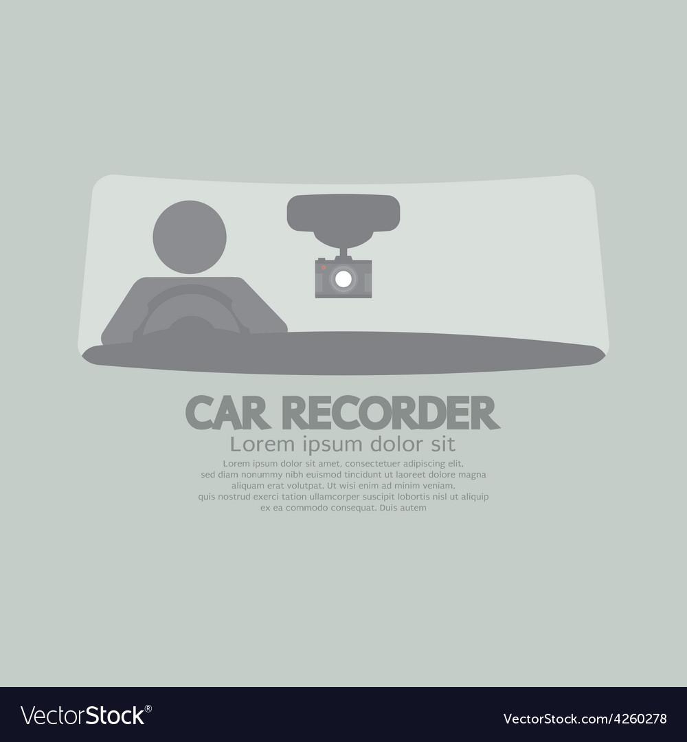 Car recorder graphic symbol vector | Price: 1 Credit (USD $1)