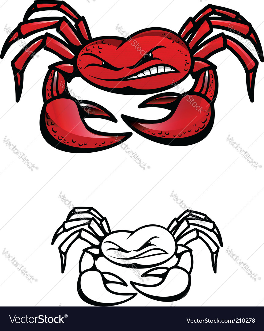 Crab symbol vector | Price: 1 Credit (USD $1)