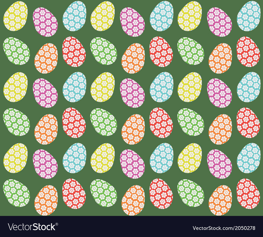 Easter eggs seamless pattern vector | Price: 1 Credit (USD $1)